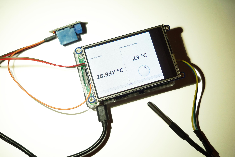 Un termostato touchscreen con RaspberryPi – Codice Sorgente